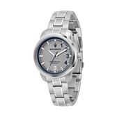【Maserati 瑪莎拉蒂】ROYALE三針日期撞色鋼帶腕錶-灰銀款/R8853137503/台灣總代理公司貨享兩年保固
