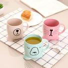 【03642】小麥桿環保系列 卡通大腳漱口杯 環保 冷水杯