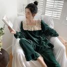 秋冬睡衣女加厚金絲絨宮廷公主風甜美加絨家居服女法蘭絨兩件套裝 小山好物