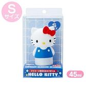 小禮堂 Hello Kitty 造型掀蓋矽膠空瓶 洗手乳瓶 乳液瓶 擠壓瓶 分裝瓶 45ml (S 藍) 4550337-39883