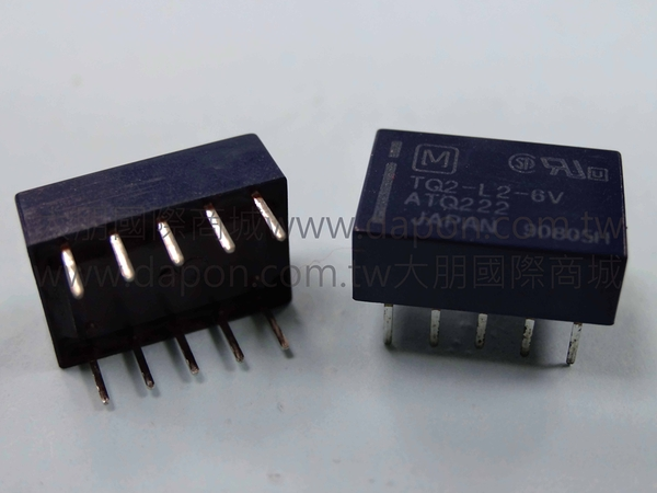 *大朋電子商城*Panasonic TQ2-L2-6V 繼電器Relay(5入)
