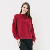 女裝ROOTS - 微高領毛圈布上衣-紅色