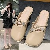 穆勒鞋 蝴蝶結拖鞋女外穿2021年新款夏季百搭平底包頭半拖女鞋網紅穆勒鞋 小天使