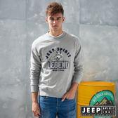 【JEEP】森林冒險立體刺繡長袖TEE (灰)