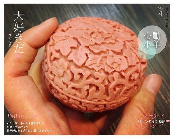 心動小羊^^DIY手工皂工具矽膠模具肥皂香皂模型矽膠皂模藝術皂模具牡丹花(單孔)