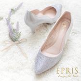 現貨 MIT小中大尺碼婚鞋尖頭鞋推薦 星空女神 全真皮羊皮高跟鞋 20.5-26 EPRIS艾佩絲-時尚銀