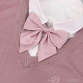 領結 shindek 純色jk領結女小羽根斜角藕粉酒紅多色領花百搭學生配飾 布衣潮人