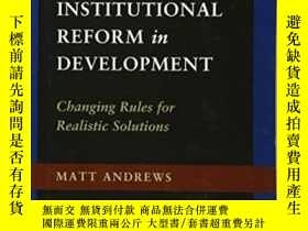 二手書博民逛書店The罕見Limits Of Institutional Reform In DevelopmentY2555
