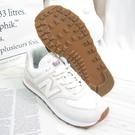New Balance 574 女款 休閒鞋 B楦 復古運動鞋 WL574SAY 焦糖底 白粉 【iSport愛運動】