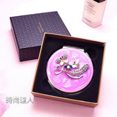 隨身鏡小鏡子迷你韓國創意圓公主鏡薄高檔便攜摺疊翻蓋雙面化妝鏡熱賣夯款