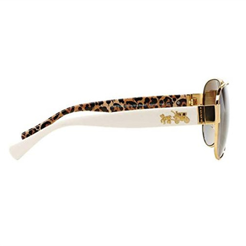 COACH【美國代購】女款 L138 太陽眼鏡 金屬框HC7059-牙色豹紋b