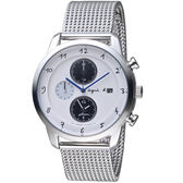 agnes b.法式風格三眼計時腕錶  V172-KKC0S BY6006P1