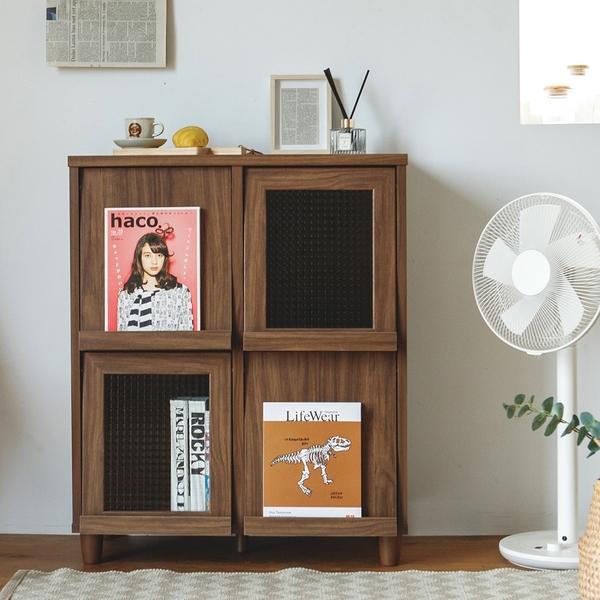 書櫃 書報架 置物架 書架 收納櫃 雜誌架【P0021】迪恩四門書報收納櫃(三色) 完美主義