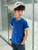 兒童男T恤 男童短袖t恤夏裝新款兒童半袖T恤中大童韓版純棉洋氣夏裝t恤 寶貝計畫