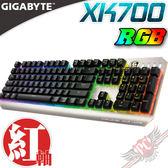 [ PC PARTY ] 技嘉 GAGIBYTE  XK700  RGB 幻彩變色 紅軸  機械式鍵盤 中文版