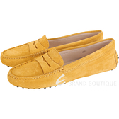 TOD'S Gommino 麂皮絨休閒豆豆鞋(女鞋/薑黃色) 1720172-D8