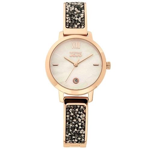 NATURALLY JOJO 玫瑰金 晶鑽 手環 錶 (JO96942-81R) 貝殼/30mm