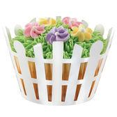 美國WILTON 惠爾通 烘烤杯圍邊 紙杯圍邊 WT415-0111 白色柵欄 花園風格 (18個)