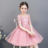 花童主持人禮服女婚紗小女孩鋼琴演出服兒童公主裙女童小童蓬蓬裙
