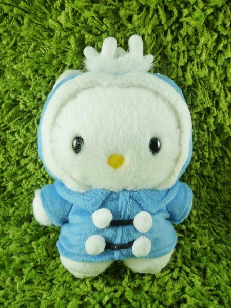 【震撼精品百貨】Hello Kitty 凱蒂貓~KITTY絨毛娃娃-丹尼爾圖案-北海道麋鹿圖案-藍色