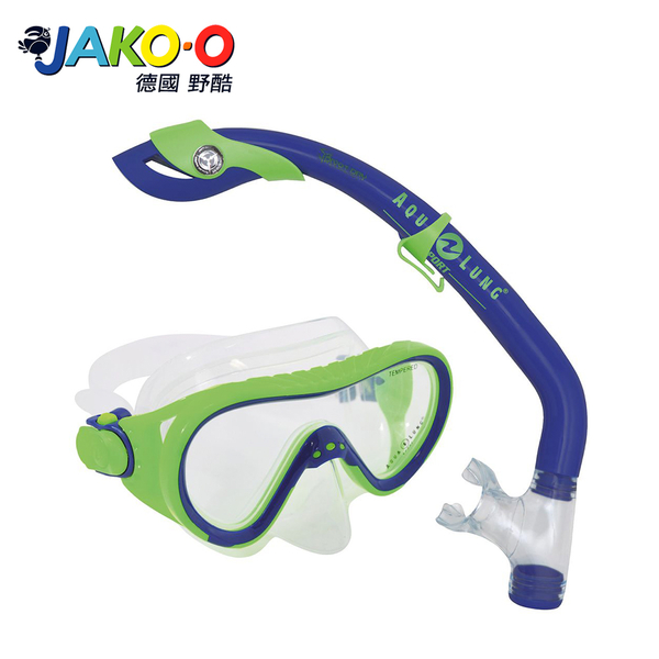 JAKO-O德國野酷-Aqua Lung浮潛面鏡組-綠