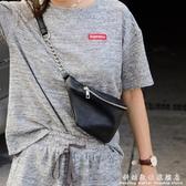 韓國東大門女式小腰包ins潮百搭荔枝皮單肩側背包錬條三角包胸包 科炫數位