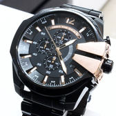 【萬年鐘錶】DIESEL 潮牌 霸氣 三眼 計時碼錶  黑錶面 黑殼 超大錶徑 59mm DZ4309
