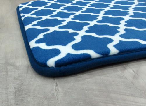 范登伯格 真柔軟舒適止滑踏墊-藍色鐵藝-40x60cm