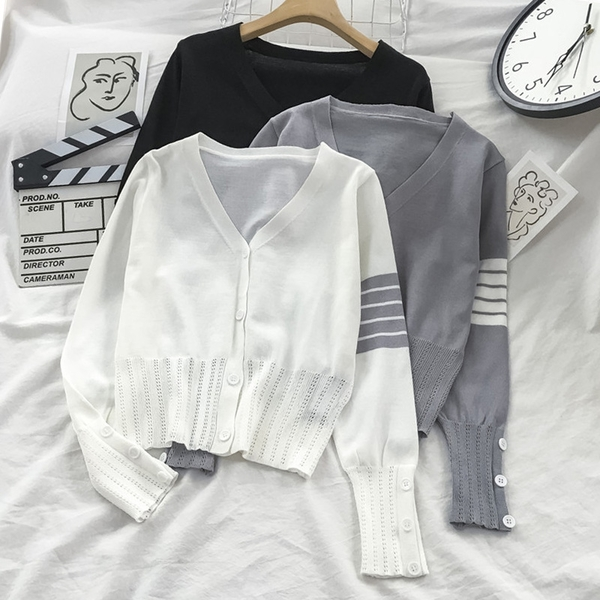 針織開衫 秋季新款韓版寬松外穿針織開衫女外套薄款慵懶溫柔風上衣