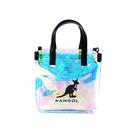 KANGOL 側背包 手提 透明金屬光/白色內袋 6055302106 noC22