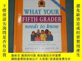 二手書博民逛書店What罕見Your Fifth Grader Needs to
