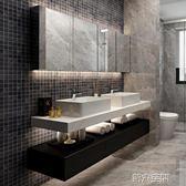 浴櫃 北歐實木浴室櫃組合現代簡約雙盆洗手洗臉盆櫃衛生間掛墻式洗漱台 第六空間 igo