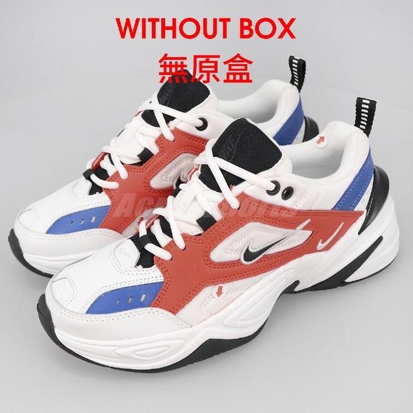 【US7.5-NG出清】Nike 休閒鞋 Wmns M2K Tekno 白 橘 女鞋 Dad Shoes 老爸鞋 鞋面溢膠 鞋口色差 無原盒【ACS】