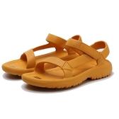 TEVA 全黃 太陽花 芥末黃 防水 黏帶 膠鞋 女 (布魯克林) TV1102390SNF