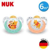 德國NUK-迪士尼安睡型乳膠安撫奶嘴-一般型6m+1入(顏色隨機出貨)
