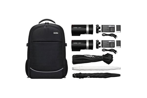 【公司貨】GODOX 神牛 AD300Pro x2 双燈後背包套組 行動攝影棚 立即上身 【AD300Pro x2 Kit】