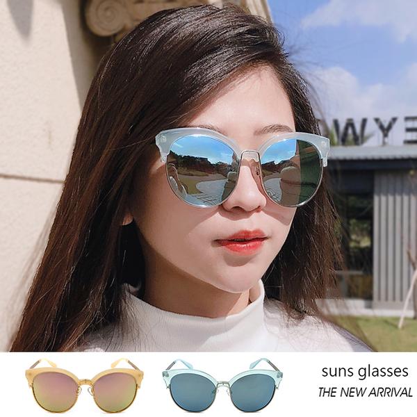 復古貓眼半框墨鏡 時尚流行Polaroid金屬太陽眼鏡 獨特風格 抗紫外線UV400