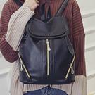 【1912】韓版潮流皮革雙肩包 PU肩學生風背包