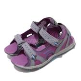 Merrell 涼拖鞋 Panther Sandal 2.0 紫 灰 大童鞋 中童鞋 女鞋 休閒鞋 魔鬼氈 涼鞋 【PUMP306】 MK162956