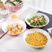 餐盤  6個裝陶瓷餐盤家用菜盤子圓形碟個性簡約飯盤日式可微波餐具菜盤 辛瑞拉