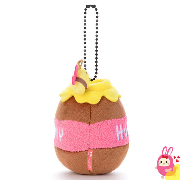 Hamee 日本 迪士尼 Mocchi Mocchi 愛的抱抱 絨毛娃娃 玩偶 珠鏈吊飾 掛飾 (蜂蜜罐) TA21287
