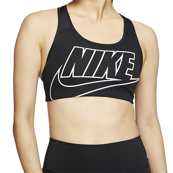 NIKE SWOOSH FUTURA BRA 黑 女 中度支撐 瑜珈 跑步 訓練 運動內衣 BV3644010