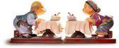 【金石工坊】壽公婆-年年有今日(高10.5CM)老公公老婆婆擬真擺飾 居家擺飾 結婚禮物 桌上擺飾