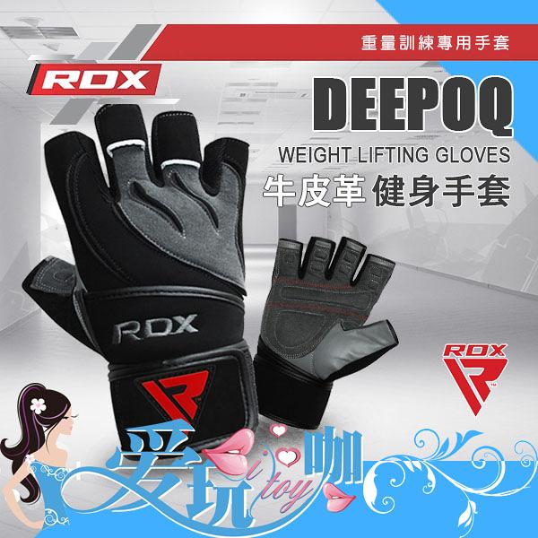 ● L ● 英國 RDX 牛皮革健身手套 DEEPOQ WEIGHT LIFTING GLOVES 重量訓練/健美專用手套