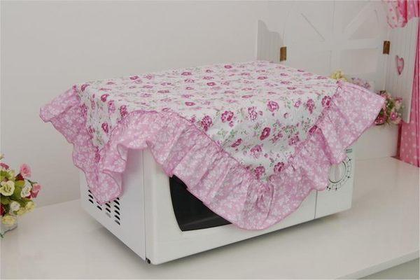 [超豐國際]棉布 微波爐防塵罩 微波爐套 蓋巾 棉藝微波爐罩