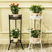 多層鐵藝花架落地客廳室內陽台花盆架簡約歐式綠蘿吊蘭花架子  igo 卡布奇諾