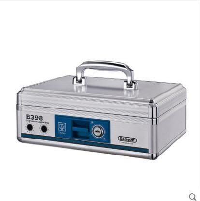 金隆興B398鋁合金多功能收銀箱收銀盒子手提金庫裝錢箱收款箱錢櫃