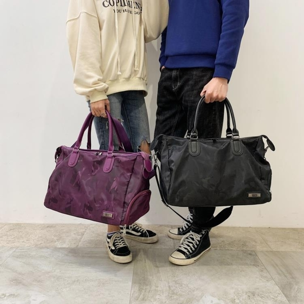 健身包 短途旅行包女正韓輕便出差出門旅游包袋行李包女運動健身包男 快速出貨