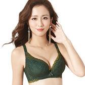 思薇爾-撩波系列D-G罩蕾絲包覆大罩內衣(棲綠色)