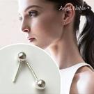 925純銀耳環。AngelNaNa 純銀豆豆耳骨釘鼻釘-防過敏女銀針耳針耳飾銀飾(4mm) (SRA0519)